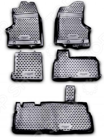 Комплект ковриков в салон автомобиля Novline-Autofamily ГАЗ ГАЗель-фермер 330232 1995