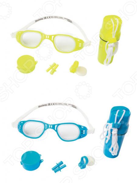 Набор для плавания: очки, беруши и зажим для носа Bestway 26002. В ассортименте bestway очки для плавания razorlite race для взрослых bestway бордовые