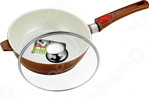 Сковорода с крышкой и съемной ручкой Calve Cera-Mate