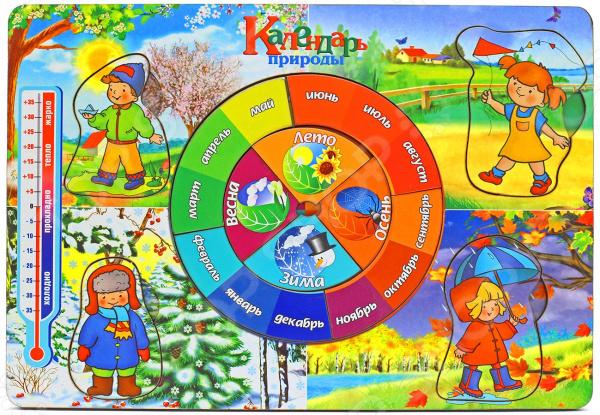 Игра развивающая «Рамка-вкладка: Календарь природы»