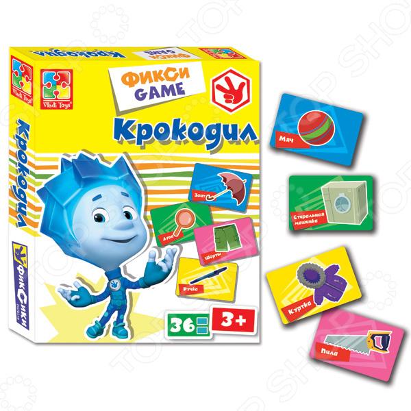 Игра карточная Vladi Toys «Крокодил. Фиксики»