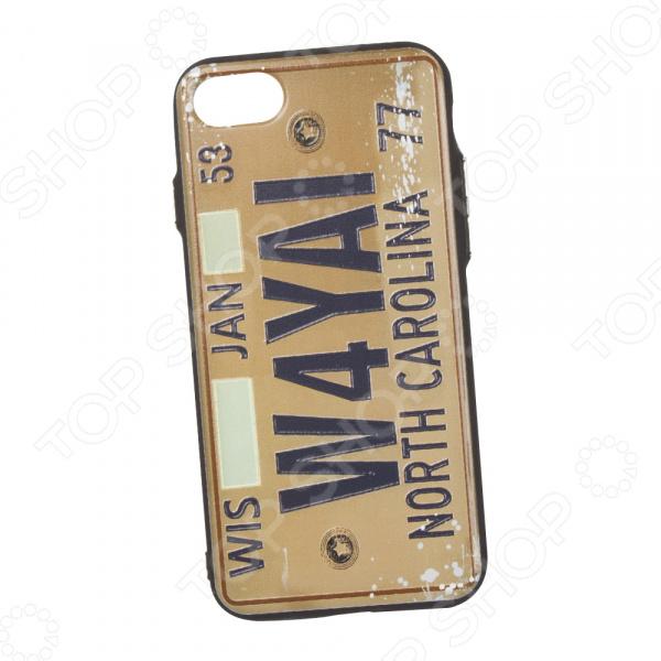 Чехол для iPhone 7/8 с фактурным покрытием «Номер: Северная Каролина» телефон 70550 чей номер