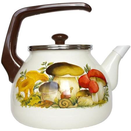 Купить Чайник эмалированный Interos 15251 «Грибы»
