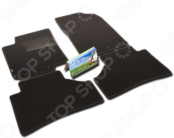 Комплект ковриков в салон автомобиля Klever Hyundai Solaris 2011 Standard комплект чехлов на весь салон seintex 86126 для hyundai i30 2011 black