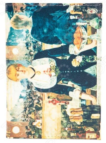 Обложка для паспорта кожаная Mitya Veselkov «Эдуард Мане. Бар в Фоли-Бержер»