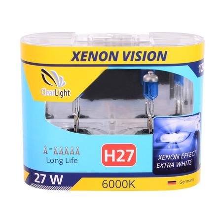 Комплект автоламп галогенных ClearLight WhiteLight H27 12V-55W