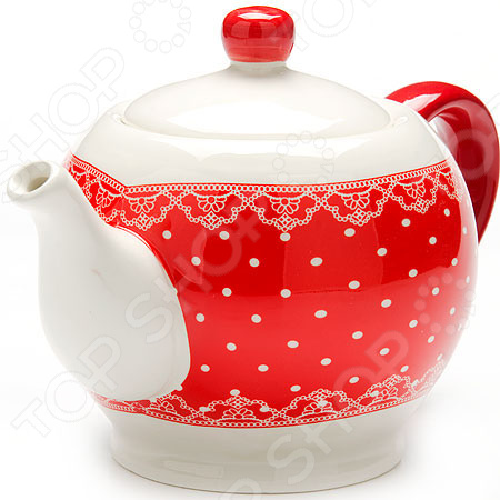 Чайник заварочный Loraine LR-25819 «Узор из горошка и кружева»