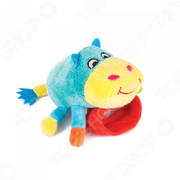 Игрушка-погремушка на ручку Happy Snail «Бегемот Бубба» мягкая игрушка happy snail погремушка на руку бегемот бубба
