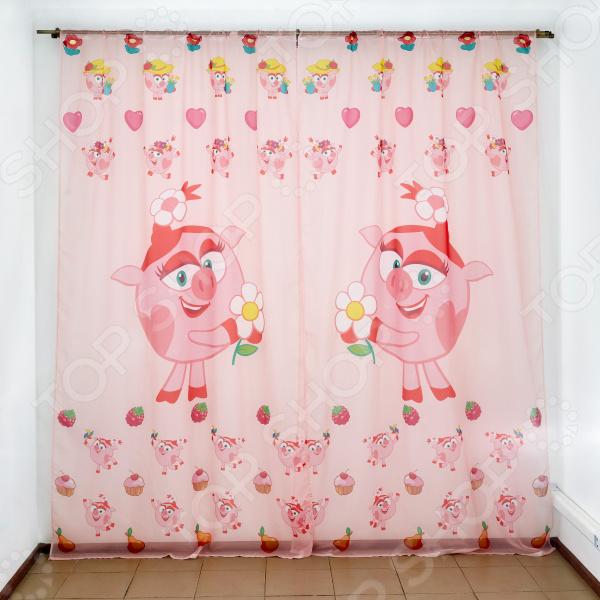 фото Комплект тюля детского Сирень «Принцесса Нюша», Портьеры для детской комнаты