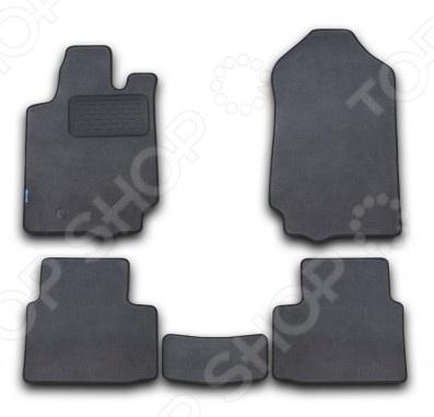 Geely Emgrand 2011. Цвет: серый Комплект ковриков в салон автомобиля Novline-Autofamily Geely Emgrand 2011 седан. Цвет: серый