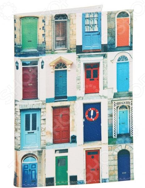 Обложка для автодокументов кожаная Mitya Veselkov «Такие разные двери» двери не стандартные деревянные где купить