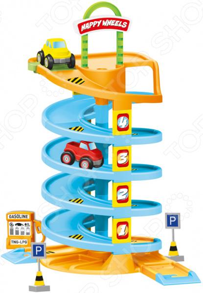 Набор игровой для мальчика Dolu «Спиральная дорога с машинками» игровой набор dolu круговая дорога с машинками dl 5049