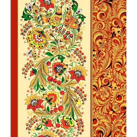 Купить Полотенце вафельное ТексДизайн «Хохломские узоры»