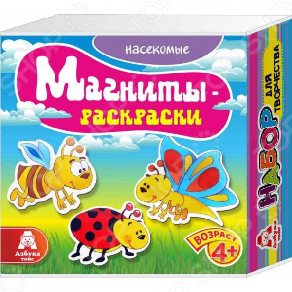 Магниты-раскраски Азбука тойс «Насекомые» насекомые от цветов