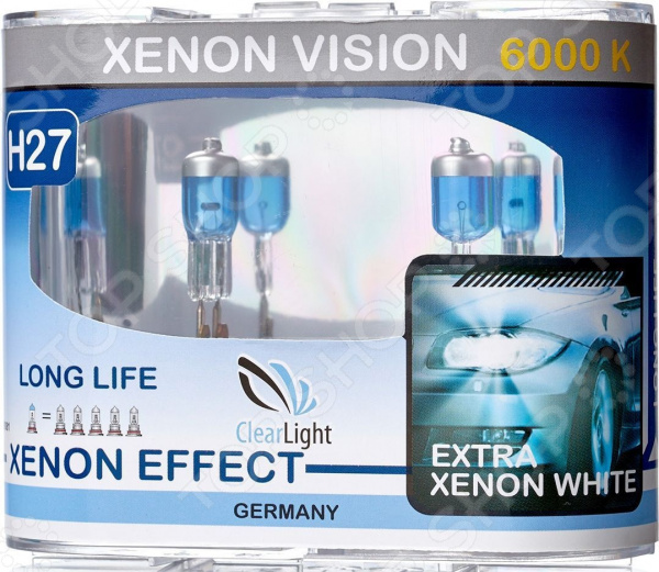 Комплект автоламп галогенных ClearLight XenonVision H27 12V-55W