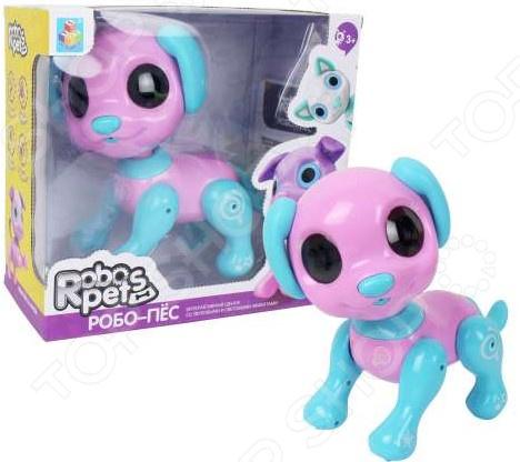 Игрушка-робот интерактивная 1 Toy «Робо-пёс розовый»