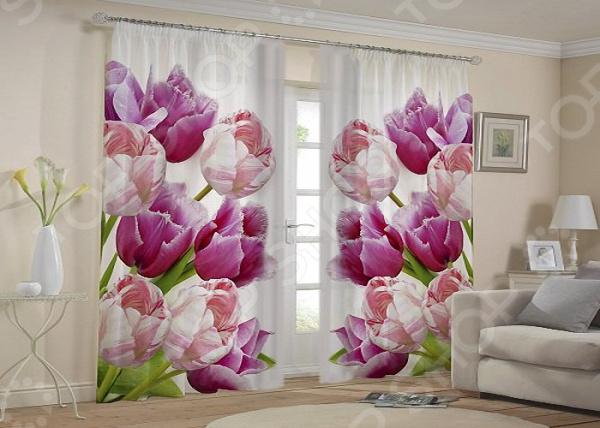 Фотошторы «Тюльпаны»