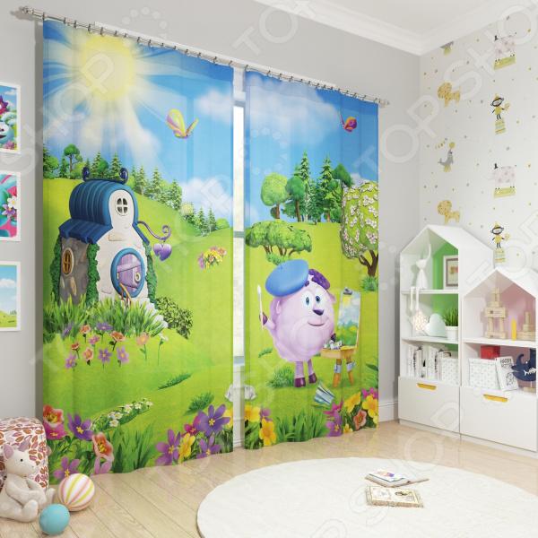 Фотошторы блэкаут детские Сирень «Бараш художник» фотошторы блэкаут сирень японский пейзаж