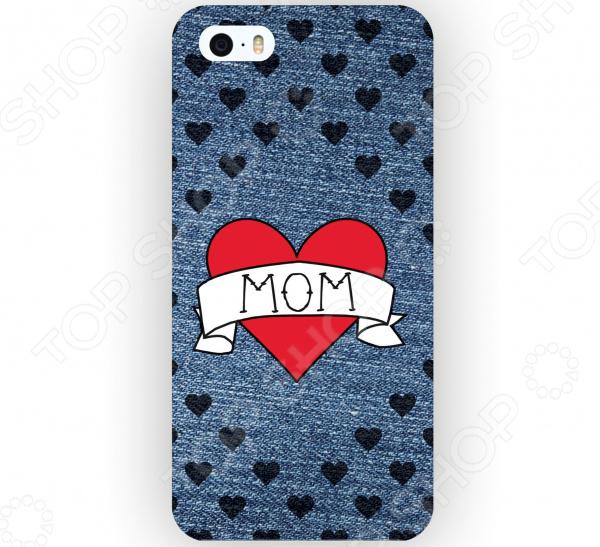 Чехол для iPhone 5 Mitya Veselkov I love mom на джинсовом стоимость