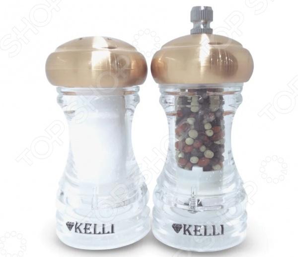Набор:мельница для перца и солонка Kelli KL-11114 blue sky набор соль перец принц фрогги