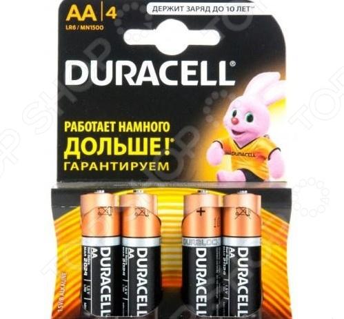 Набор батареек щелочных Duracell LR6-4BL Basic CN набор инструмента tundra basic 882076