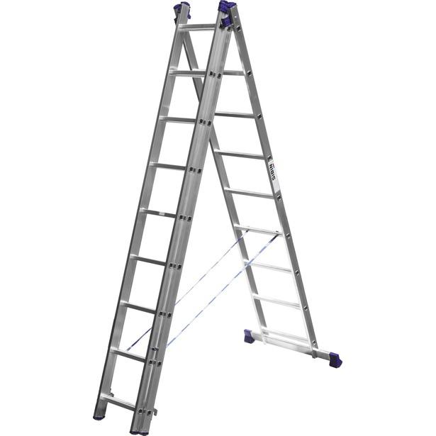 фото Лестница трехсекционная со стабилизатором Сибин 38833. Количество ступеней: 9