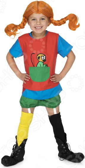 Карнавальный костюм для девочки Micki «Пеппи ДлинныйЧулок» 2