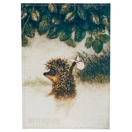 Купить Обложка для паспорта кожаная Mitya Veselkov «Ежик в тумане»