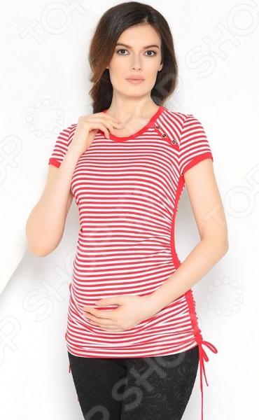 Футболка для беременных Nuova Vita 1225.02 «Полоски» футболка для беременных nuova vita 1226 01 цвет чёрный