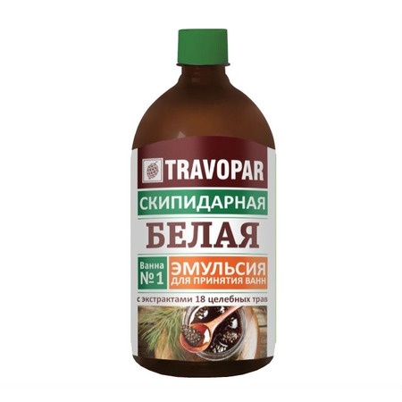 Купить Скипидарный раствор для принятия скипидарных ванн Travopar «Белая»
