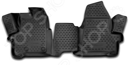 Комплект ковриков в салон автомобиля Novline-Autofamily Citroen Berlingo 2005 2 комплект ковриков в салон автомобиля novline autofamily citroen berlingo 2008 цвет черный