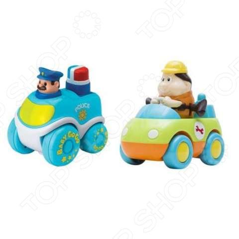 Набор машинок игрушечных HAP-P-KID «Техническая помощь и Полиция» настольные игры hap p kid пинбол домашние животные