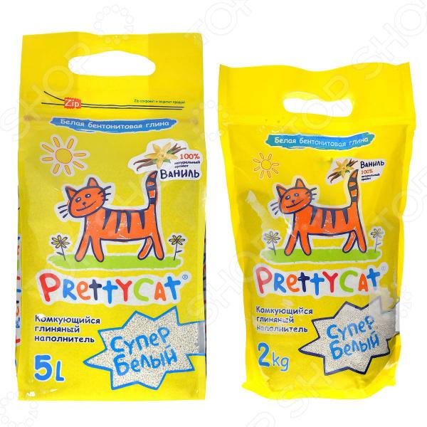 Наполнитель для кошачьего туалета PrettyCat «Cупер белый» с ароматом ванили