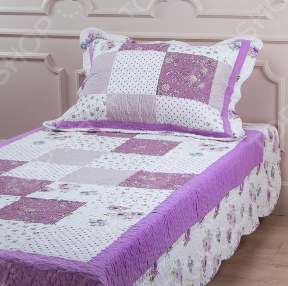 Комплект для спальни: покрывало и наволочка Santalino 806-019 для спальни