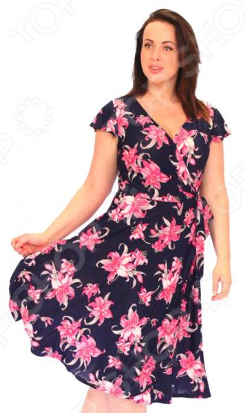 Платье Матекс «Цветочные эмоции». Цвет: розовый