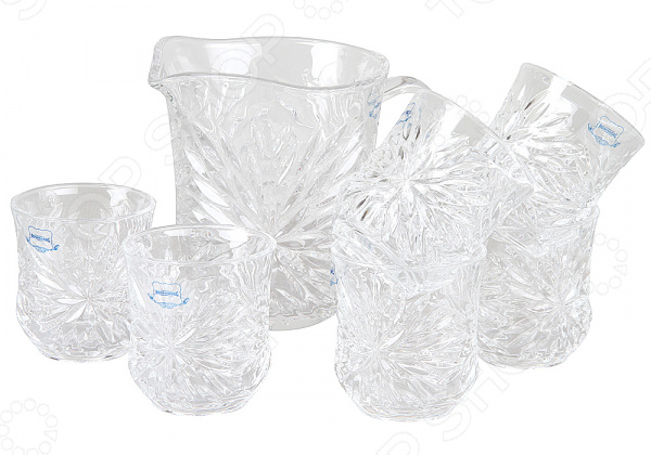 Набор: кувшин и стаканы Rosenberg «Блеск»