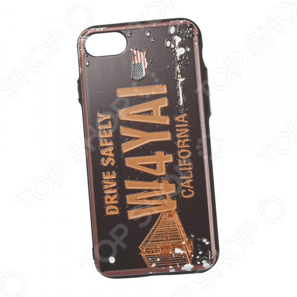 Чехол для iPhone 7/8 с фактурным покрытием «Номер: Калифорния» телефон 70550 чей номер