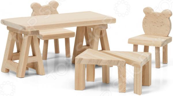 Набор мебели для куклы Lundby «Стол и стулья»