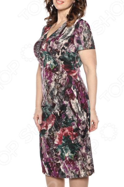 Платье La Via Estelar «Цветочный пейзаж». Цвет: сиреневый