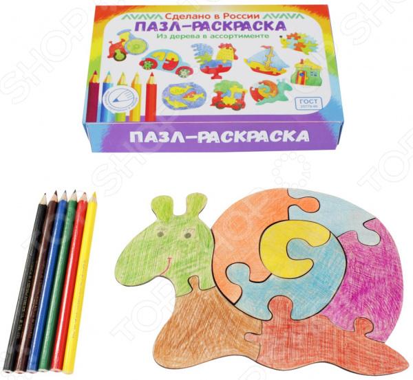 Пазл-раскраска Мастер игрушек «Улитка»