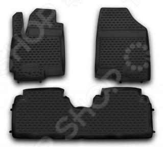Комплект ковриков в салон автомобиля Novline-Autofamily KIA Venga 2010 комплект ковриков в салон автомобиля novline autofamily kia sportage 2010 2016