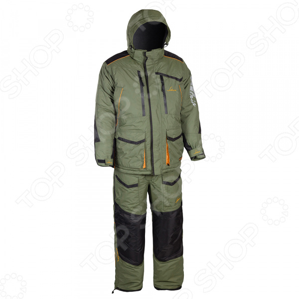 Костюм для рыбалки зимний Huntsman Siberia Breathable. Цвет: хаки, черный