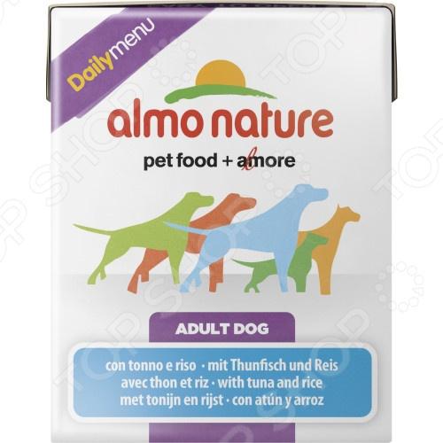 Корм консервированный для собак Almo Nature DailyMenu Adult with Tuna and Rice