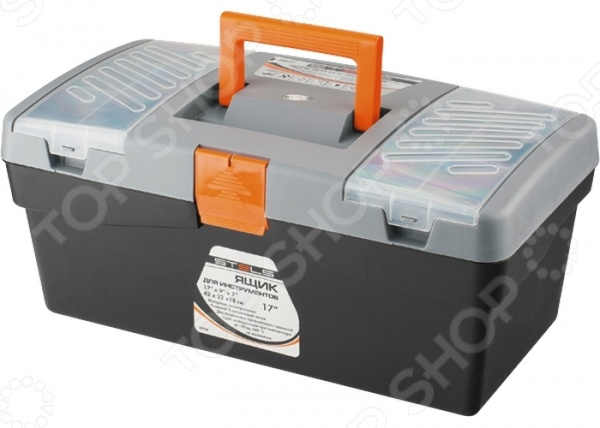 Ящик для инструмента Stels 90704 ящик stels 90706 для инструмента 590х300х300мм 24 пластик
