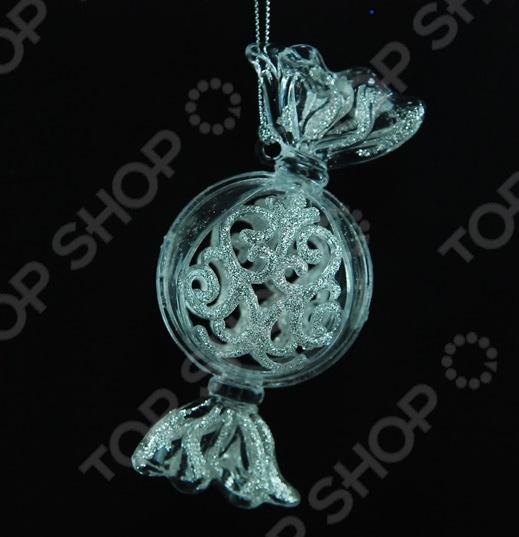 Новогоднее украшение Crystal Deco «Конфета с глиттером» Новогоднее украшение Crystal Deco «Конфета с глиттером» /