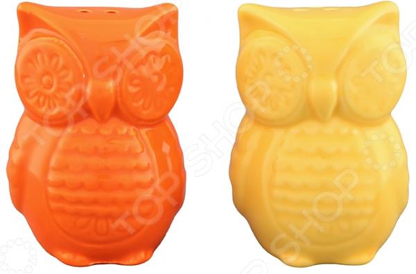 Набор для специй Elan Gallery «Совы желто-оранжевые»