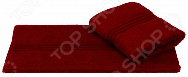 Полотенце махровое Hobby Home Collection Rainbow. Цвет: бордовый