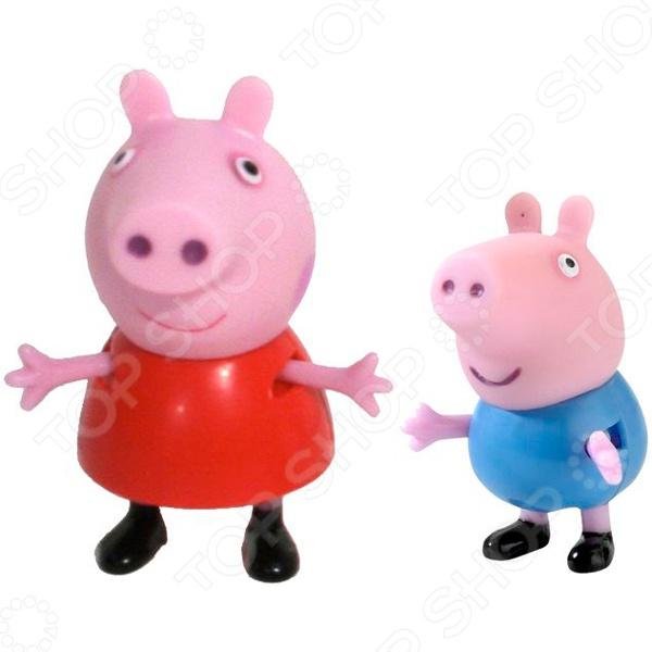 Игровой набор фигурок Peppa Pig «Пеппа и Джордж» игровые наборы свинка пеппа peppa pig игровой набор пеппа и кенди