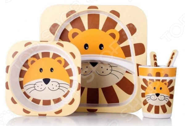 Набор посуды для детей «Лев»