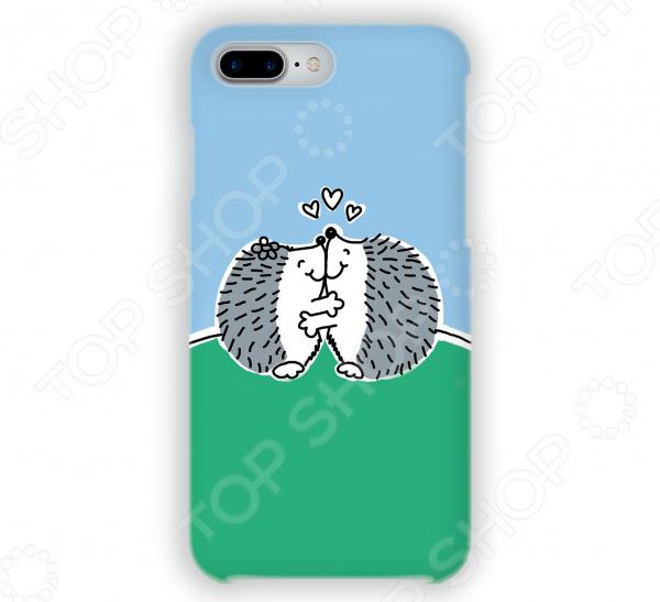 Чехол для iPhone 7 Plus Mitya Veselkov «Влюбленные ёжики» стоимость